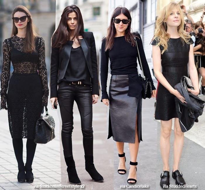 en street styles es el Total Black, porque dependiendo de las prendas  elegidas puedes llevar un outfit muy elegante y sofisticado o uno más  rockero,